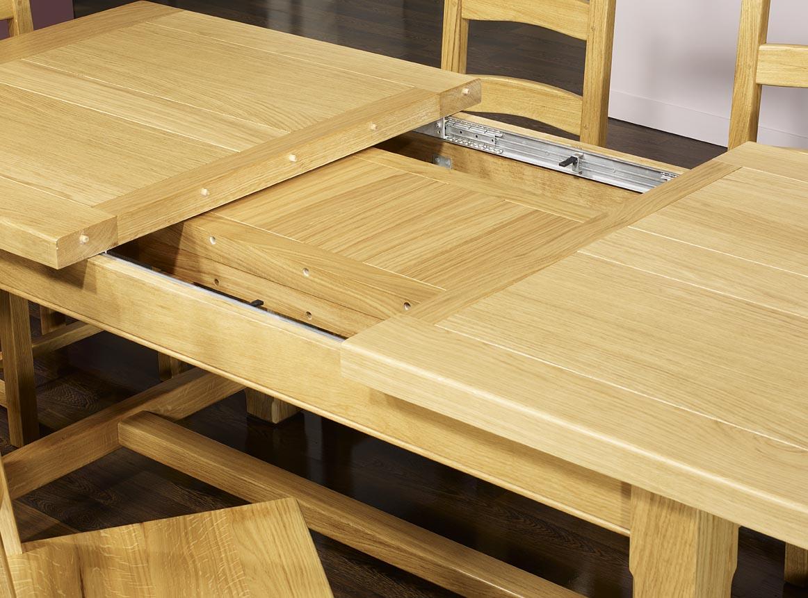 Table de ferme rectangulaire en ch ne massif 160x100 2 for Table chene massif rallonge
