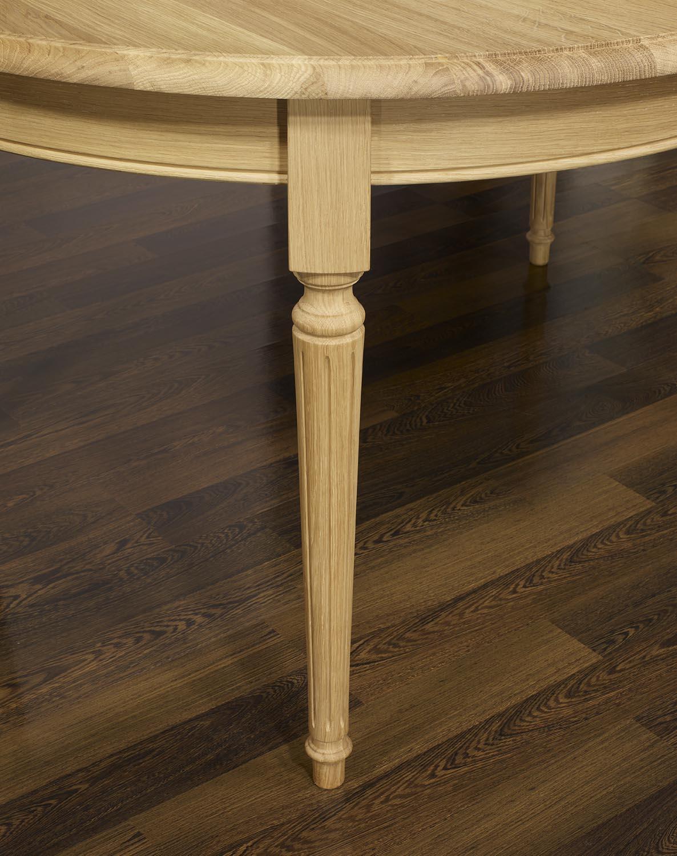 Table Ovale 160×120 Lambert En Ch Ne Massif De Style Louis Xvi  # Meuble Tv Louis Xvi