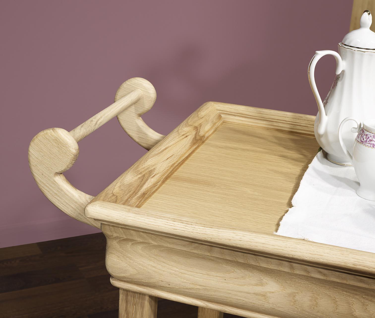 table desserte roulante en ch ne de style louis philippe. Black Bedroom Furniture Sets. Home Design Ideas