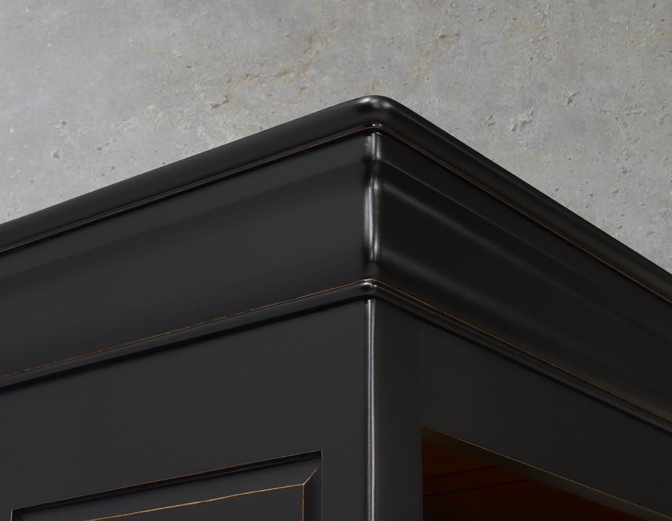 Biblioth que en merisier massif de style louis philippe - Meuble patine noir ...