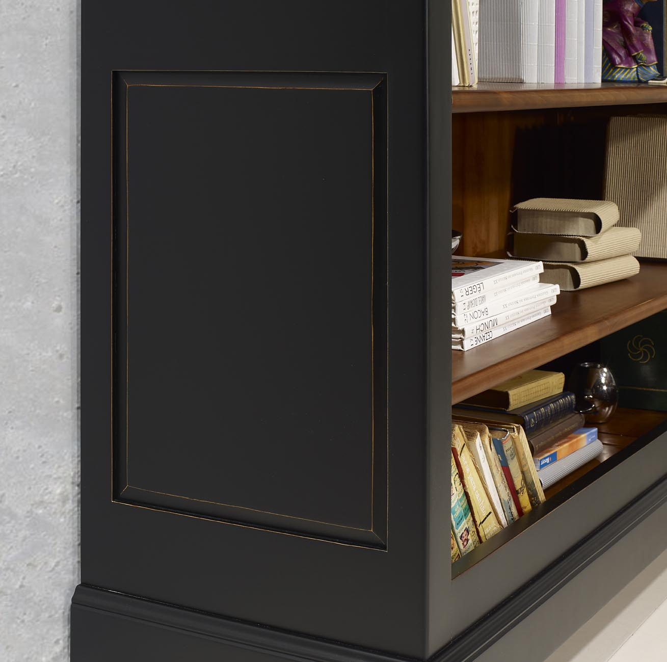 biblioth que en merisier massif de style louis philippe. Black Bedroom Furniture Sets. Home Design Ideas
