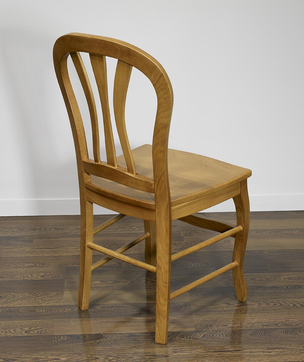 Chaise hugo en ch ne massif de style louis philippe assise chene meuble en - Chaises chene massif ...