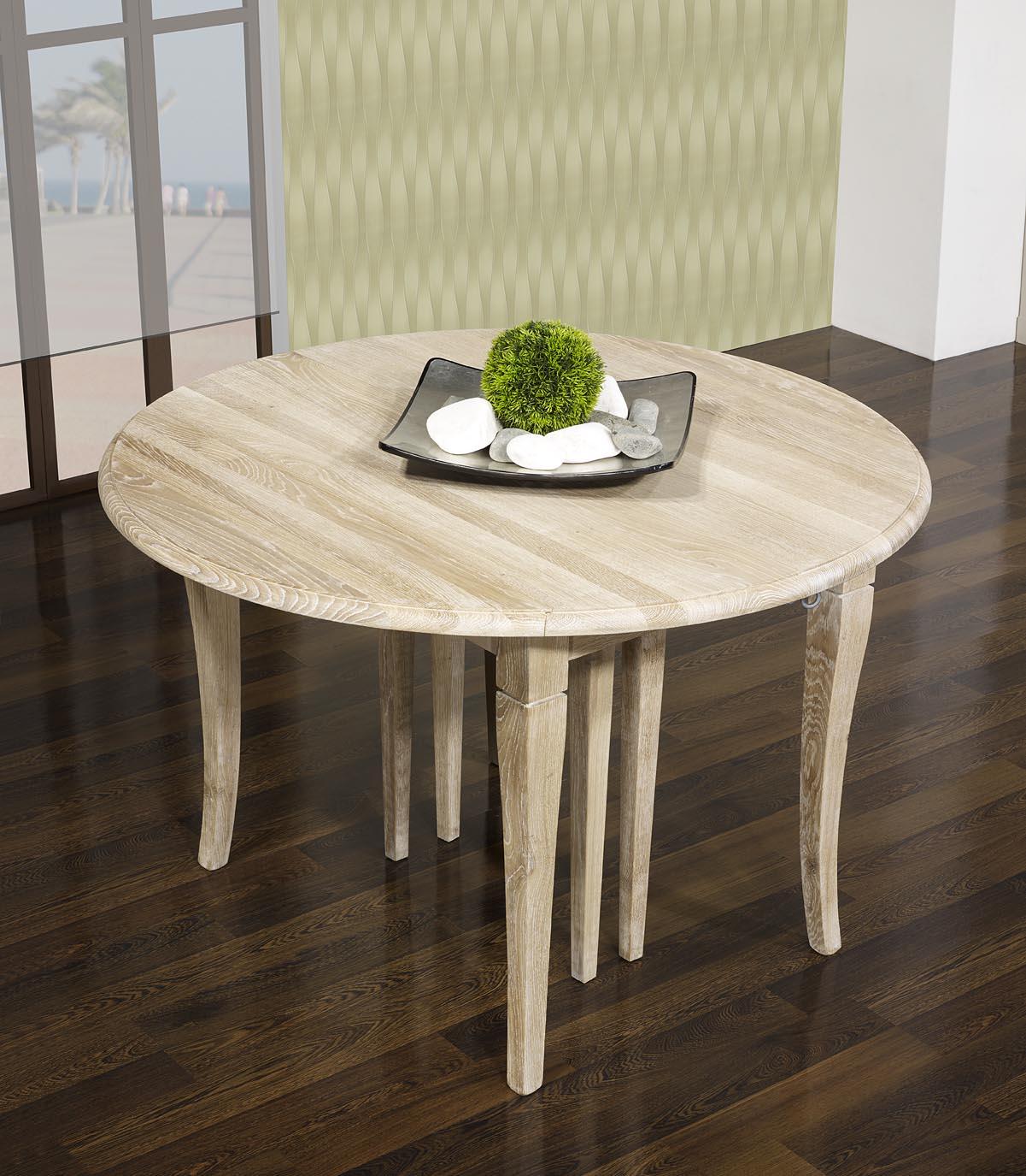 table ronde volets marius diam tre 110 en ch ne massif de style louis philippe 7 allonges de. Black Bedroom Furniture Sets. Home Design Ideas