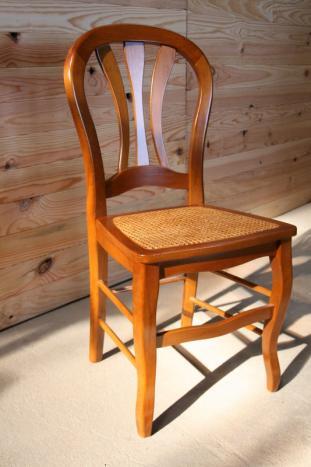 chaise de style louis philippe cann e meuble en merisier massif. Black Bedroom Furniture Sets. Home Design Ideas