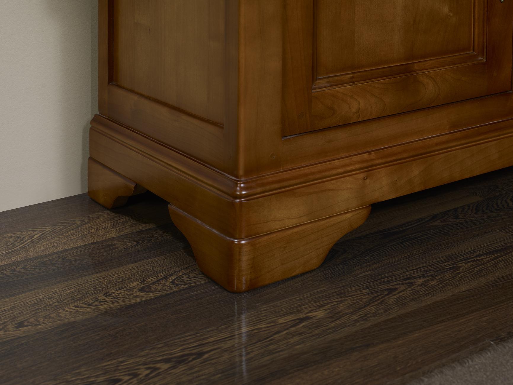meuble tv 16 9 me en merisier massif de style louis philippe portes bois meuble en merisier massif. Black Bedroom Furniture Sets. Home Design Ideas