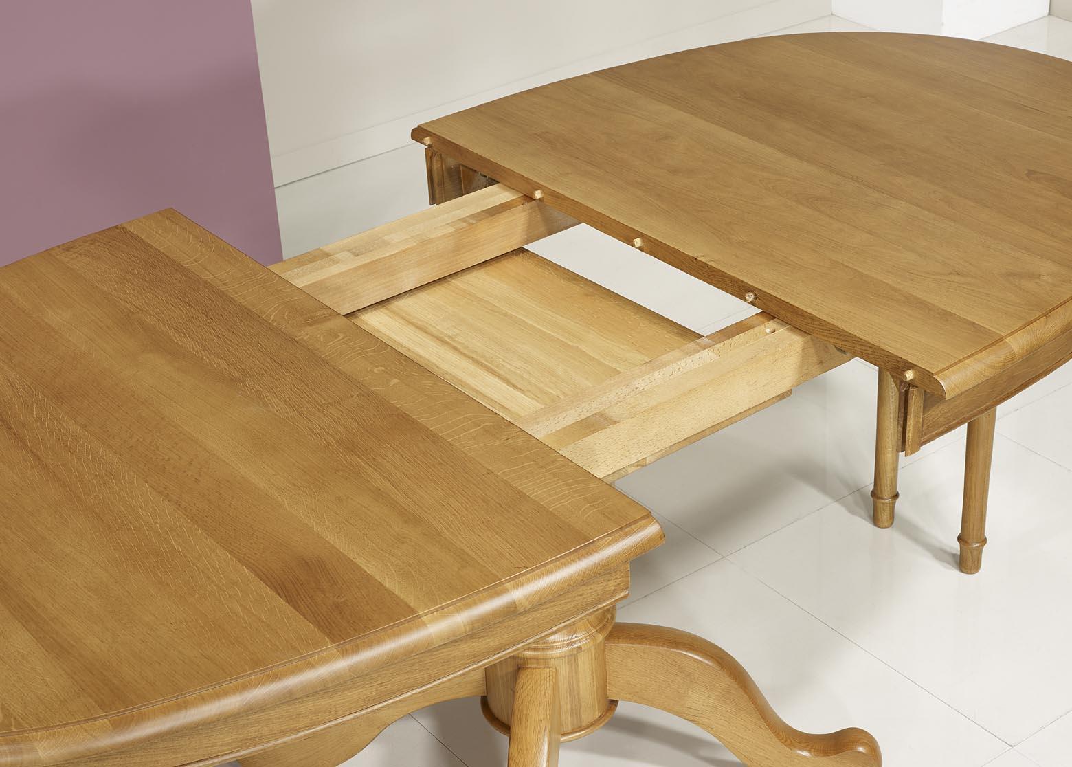 Table ovale 170x100 en ch ne massif de style louis for Table ovale chene massif