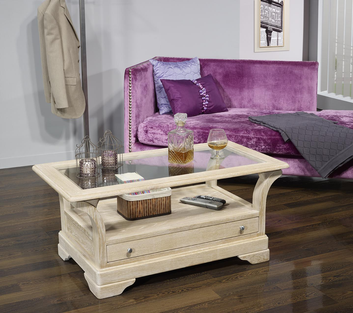 table basse raphael en ch ne massif de style louis. Black Bedroom Furniture Sets. Home Design Ideas