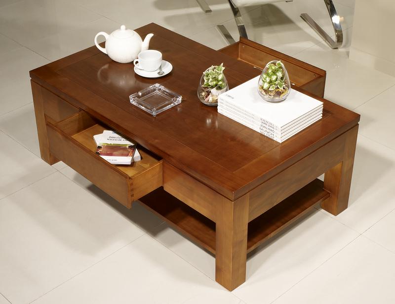 table basse rectangulaire magaly en merisier ligne contemporaine longueur 120 meuble en. Black Bedroom Furniture Sets. Home Design Ideas