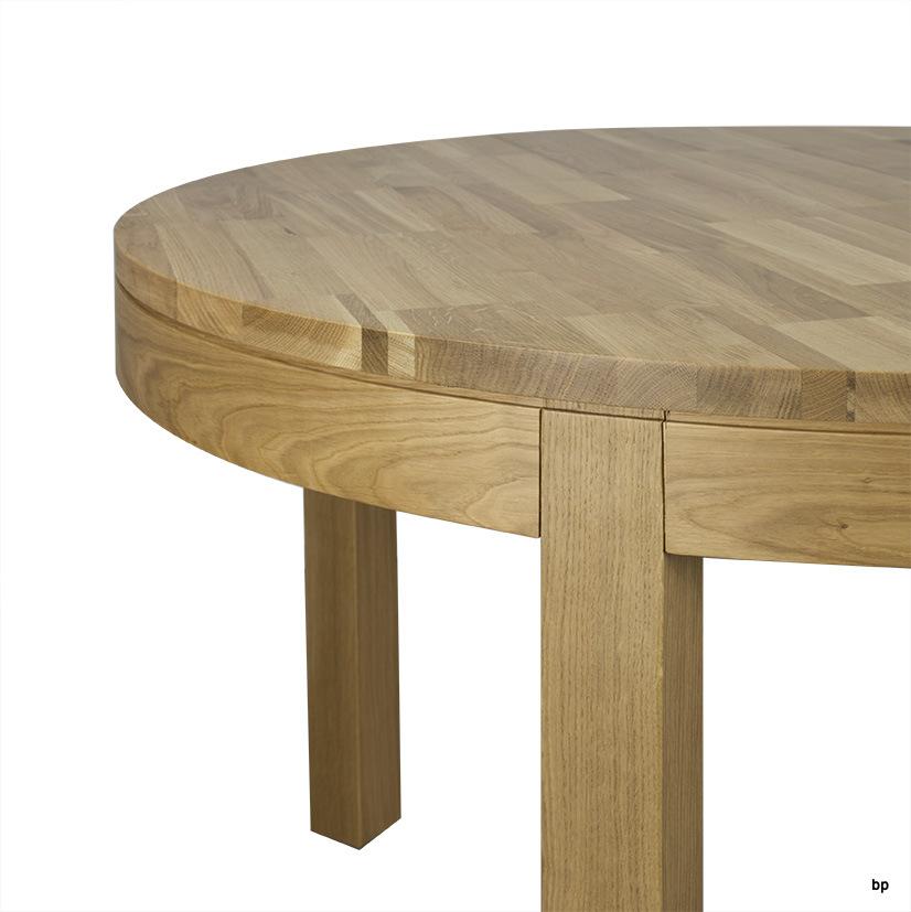 table de repas denys en ch ne ligne contemporaine diam tre 120 finition ch ne naturel meuble. Black Bedroom Furniture Sets. Home Design Ideas