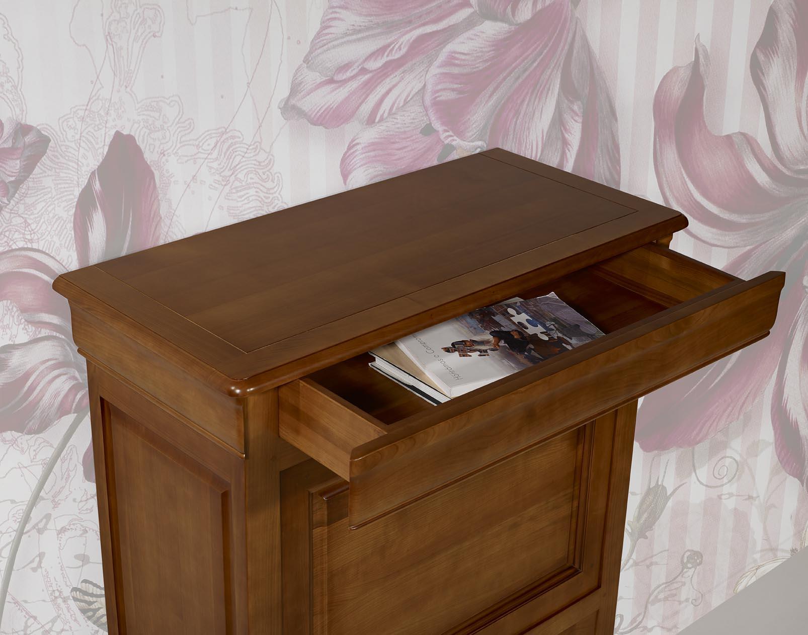 secr taire en merisier massif de style louis philippe meuble en merisier massif. Black Bedroom Furniture Sets. Home Design Ideas