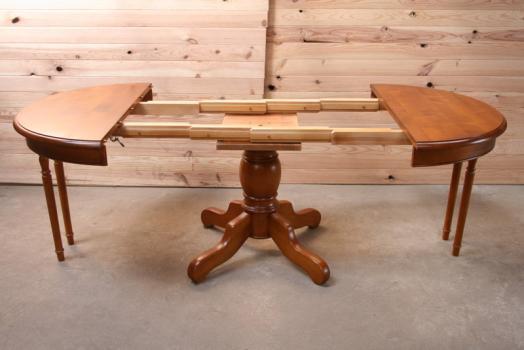 table ronde am liediametre 105 pieds central de style louis philippe en merisier massif 2. Black Bedroom Furniture Sets. Home Design Ideas