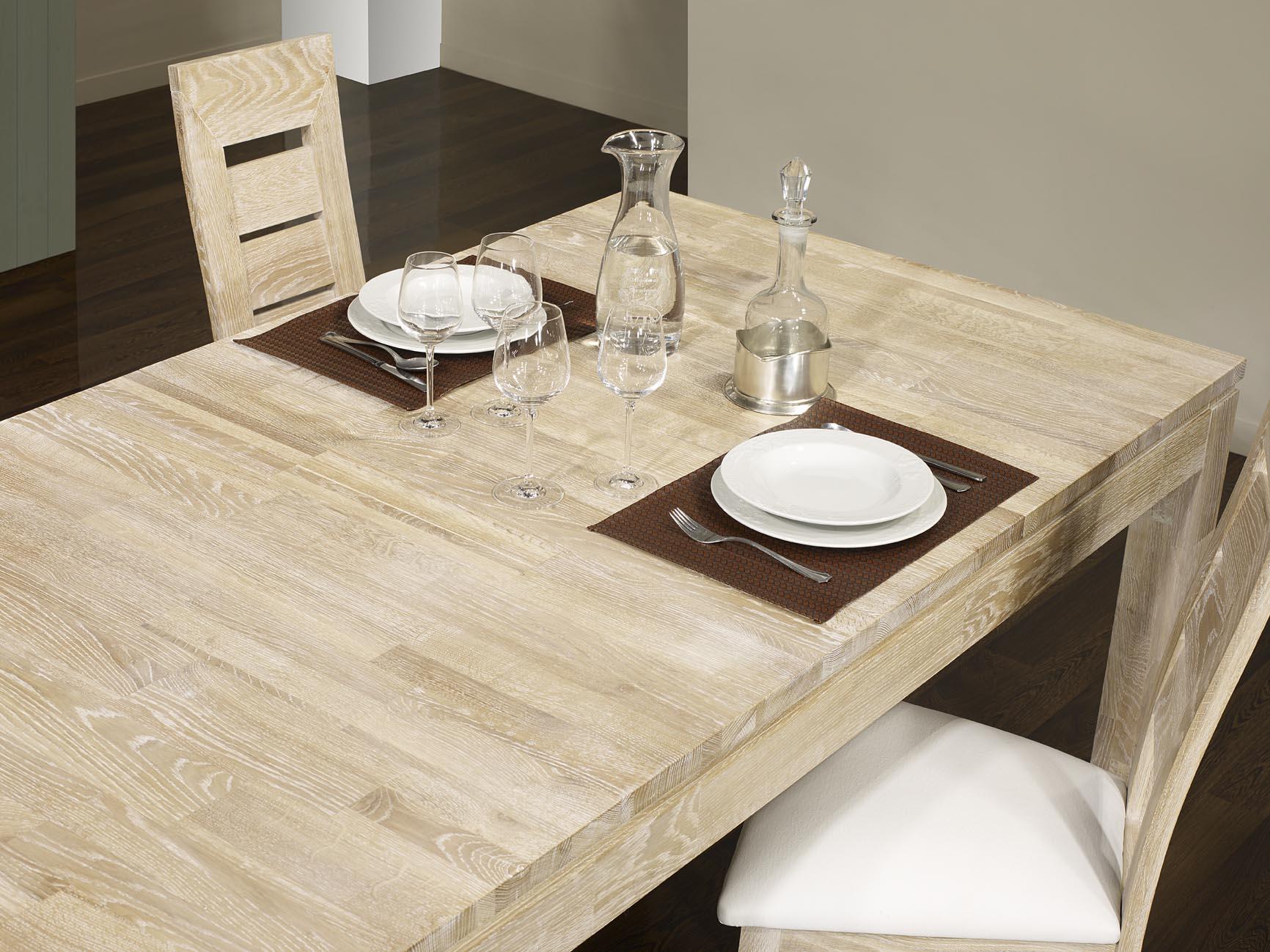 table de repas rectangulaire alexandre 200x100 en ch ne. Black Bedroom Furniture Sets. Home Design Ideas