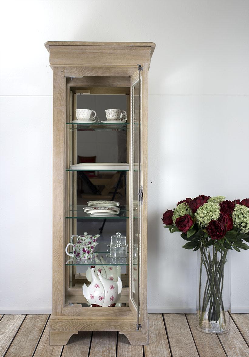 argentier 1 porte 1 tiroir en ch ne massif de style louis philippe finition ch ne bross. Black Bedroom Furniture Sets. Home Design Ideas