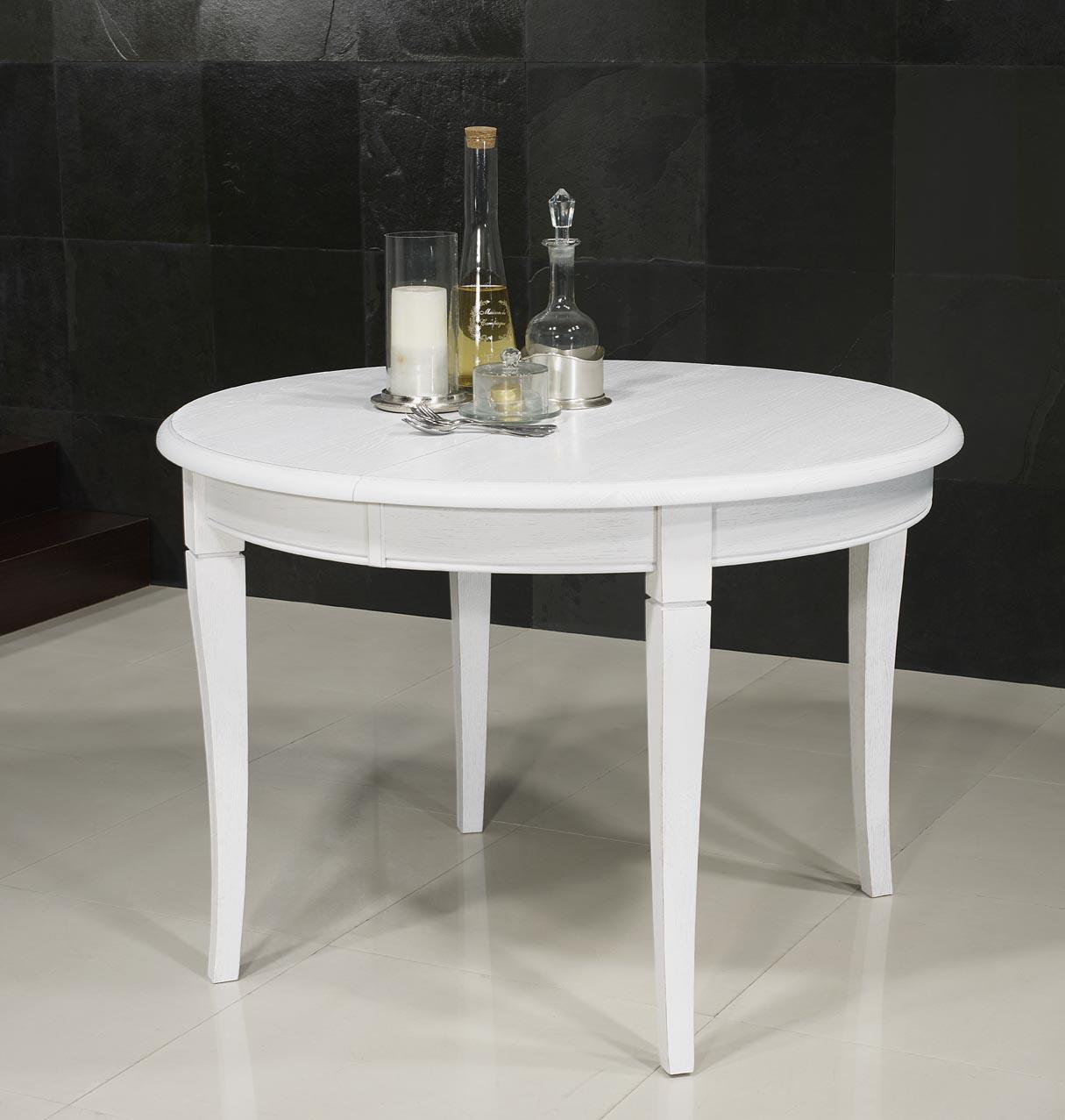 Table ronde en ch ne massif de style louis philippe - Table ronde style louis philippe ...