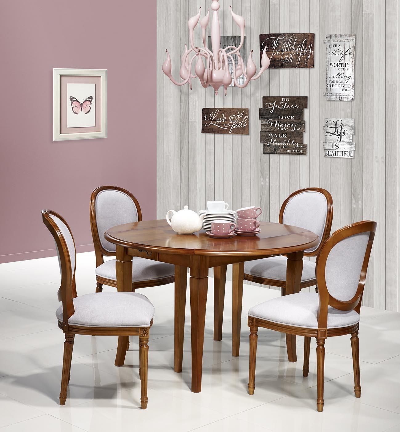 Table ronde volets en merisier massif de style louis - Table ronde style louis philippe ...