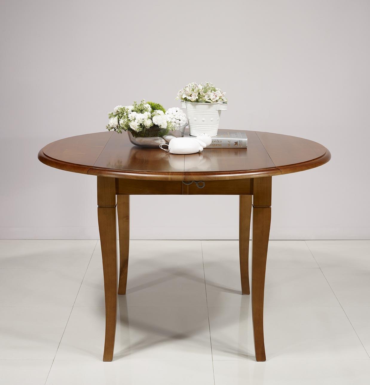 Table ronde volets en chene massif de style louis - Table ronde style louis philippe ...