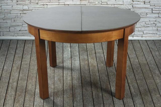 table ronde emy en merisier de ligne contemporaine plateau c ramique meuble en merisier massif. Black Bedroom Furniture Sets. Home Design Ideas