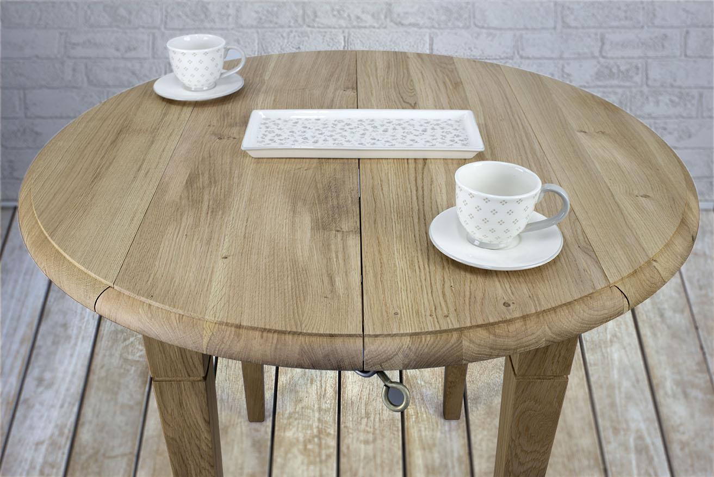 table ronde volets diam tre 90 en ch ne massif de style louis philippe 2 allonges de 40 cm. Black Bedroom Furniture Sets. Home Design Ideas