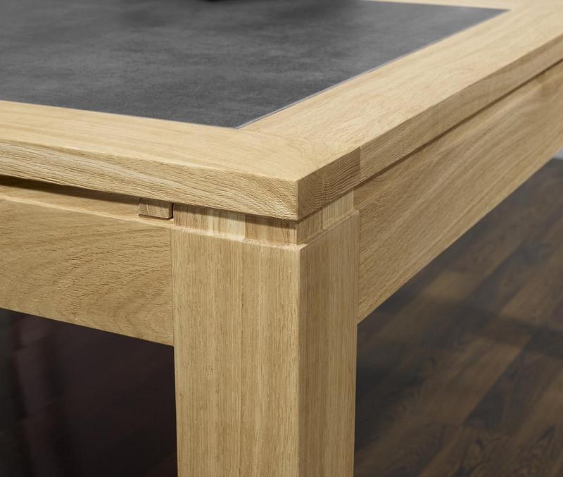 table de repas rectangulaire 160x100 math o en ch ne ligne contemporaine plateau avec c ramique. Black Bedroom Furniture Sets. Home Design Ideas