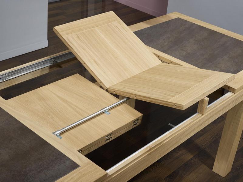 Table de repas rectangulaire 160x100 math o en ch ne ligne contemporaine plat - Plateau en chene massif ...