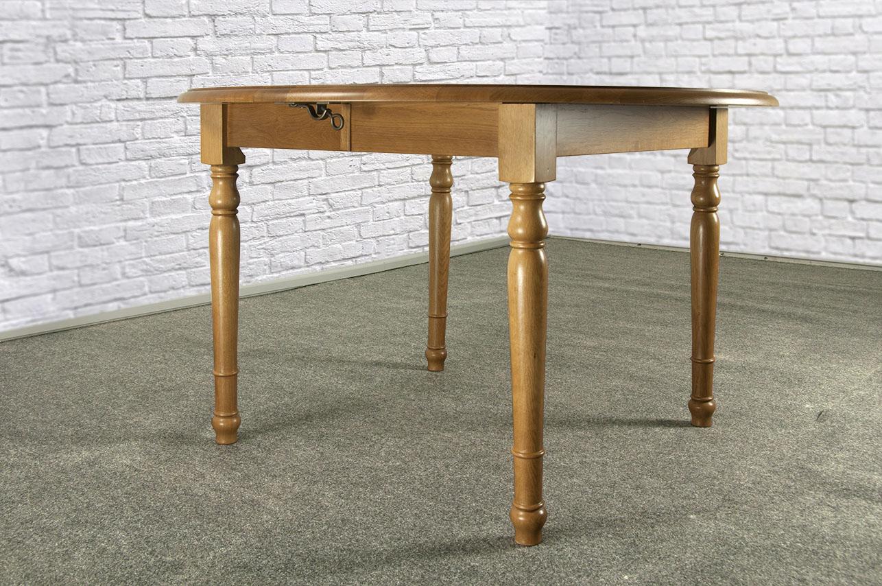 Table ronde simon en ch ne massif de style louis philippe for Table ronde chene massif avec allonges