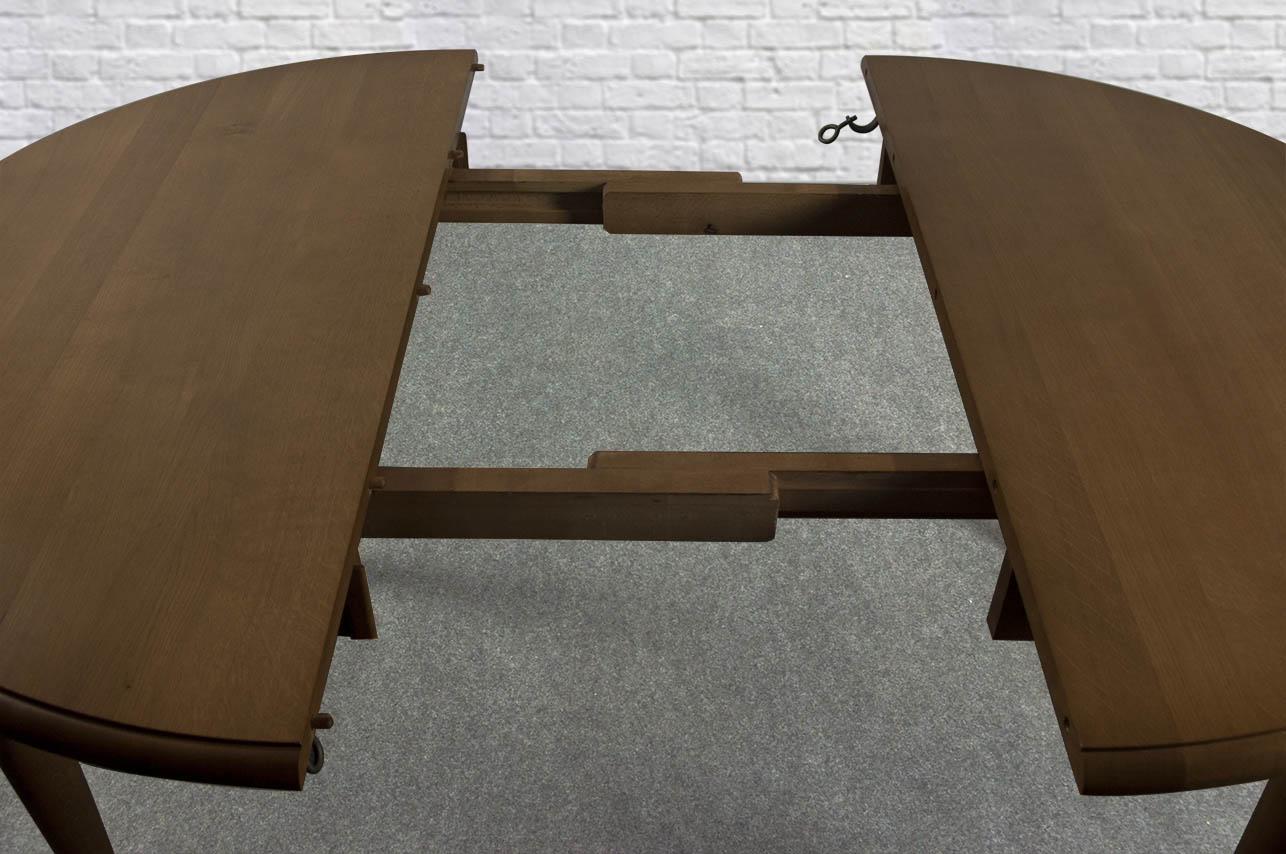 Table ronde simon en ch ne massif de style louis philippe for Plateau de table rond 120 cm