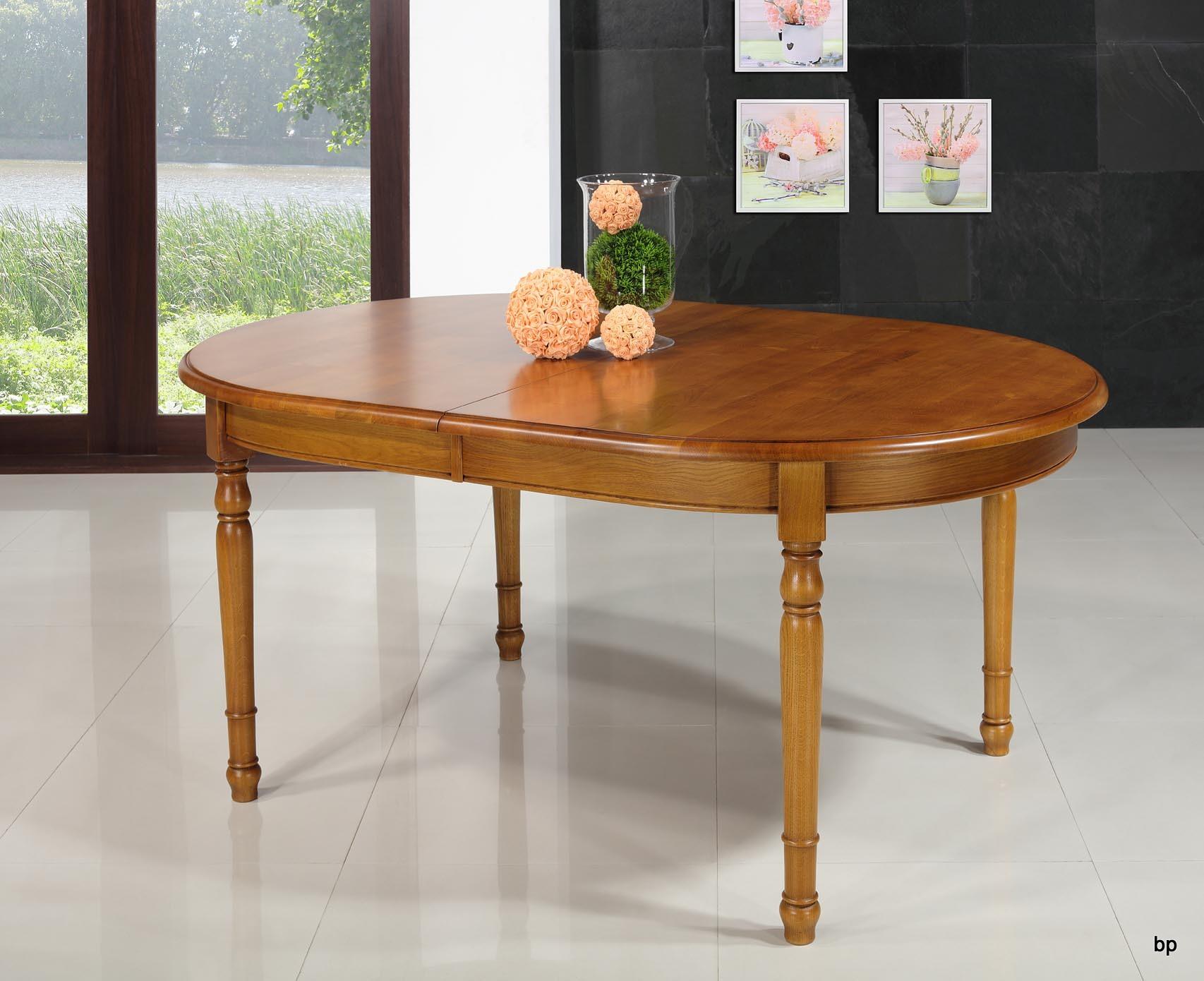table ovale 170x110 en ch ne massif de style louis philippe avec 3 allonges de 40 cm ch ne dor. Black Bedroom Furniture Sets. Home Design Ideas