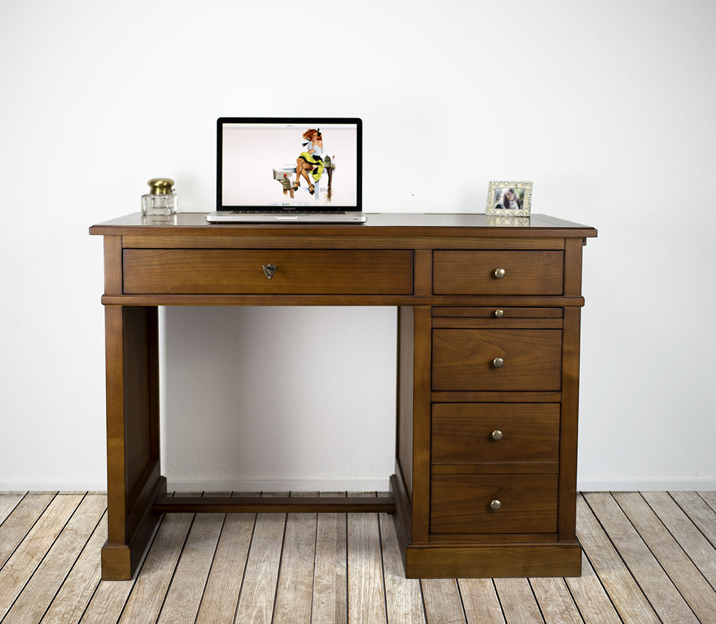 petit bureau lucie en merisier de style louis philippe plateau merisier avec finition antik. Black Bedroom Furniture Sets. Home Design Ideas