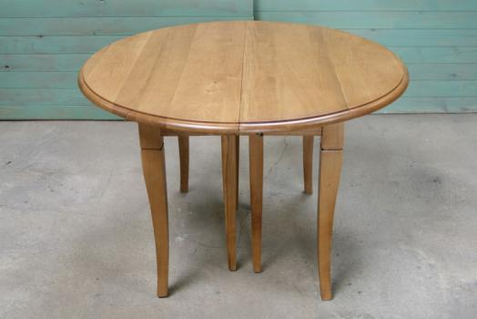 Table ronde volets diametre 120 en ch ne massif de style louis philippe 5 allonges de 40 cm - Table 120 cm avec rallonge ...