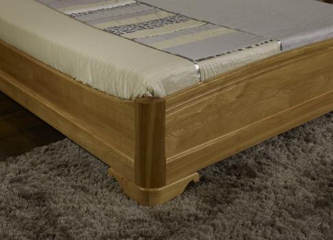 lit jean baptiste 140x190 en ch ne massif de style louis philippe meuble en ch ne massif. Black Bedroom Furniture Sets. Home Design Ideas