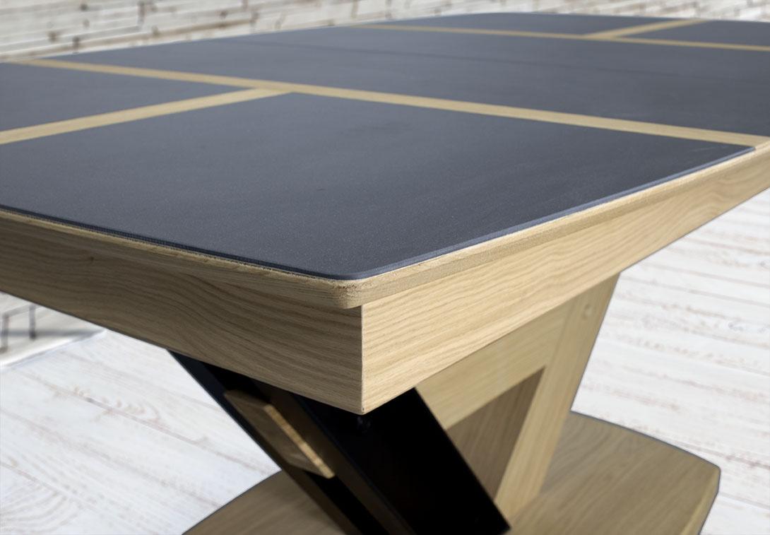 Table rectangulaire ovalis e martin 180x110 en ch ne - Plateau de table chene massif ...