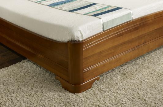 Lit lea 160x200 en merisier massif de style louis philippe meuble en merisier massif - Meuble merisier style louis philippe ...