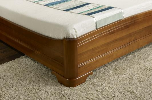Lit lea 160x200 en merisier massif de style louis philippe meuble en merisi - Lit bois massif 160x200 ...