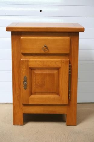 Chevet 1 porte 1 tiroir en ch ne massif de style campagnard destockage 1 disp - Meuble style campagnard ...