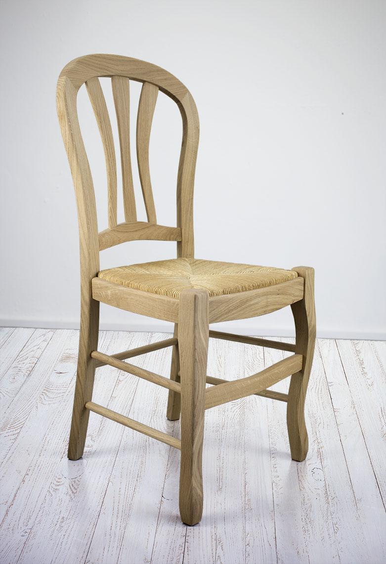 chaise hugo r alis e en ch ne massif de style louis philippe assise paille meuble en ch ne massif. Black Bedroom Furniture Sets. Home Design Ideas