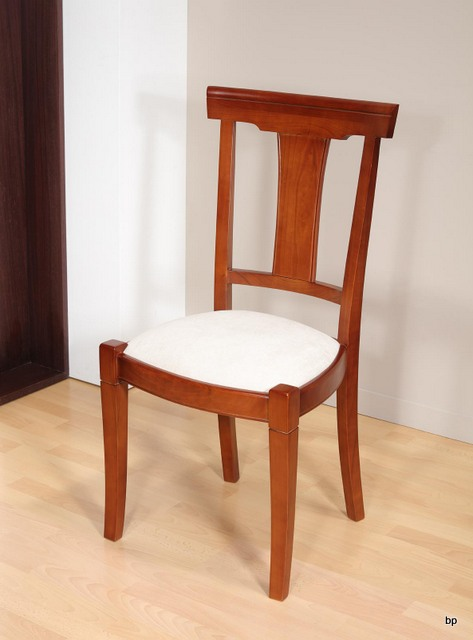 chaise lou en merisier massif de style louis philippe moleskine blanche meuble en merisier massif. Black Bedroom Furniture Sets. Home Design Ideas