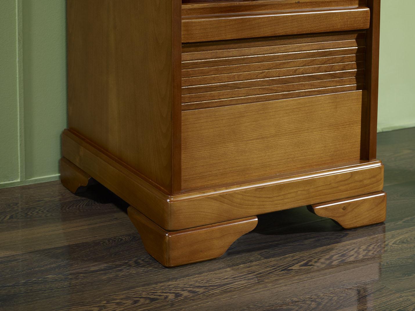 classeur rideau en merisier de style louis philippe meuble en merisier massif. Black Bedroom Furniture Sets. Home Design Ideas