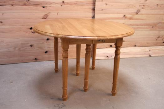 table ronde volets diametre 120 en ch ne massif de style louis philippe 4 allonges de 40 cm. Black Bedroom Furniture Sets. Home Design Ideas