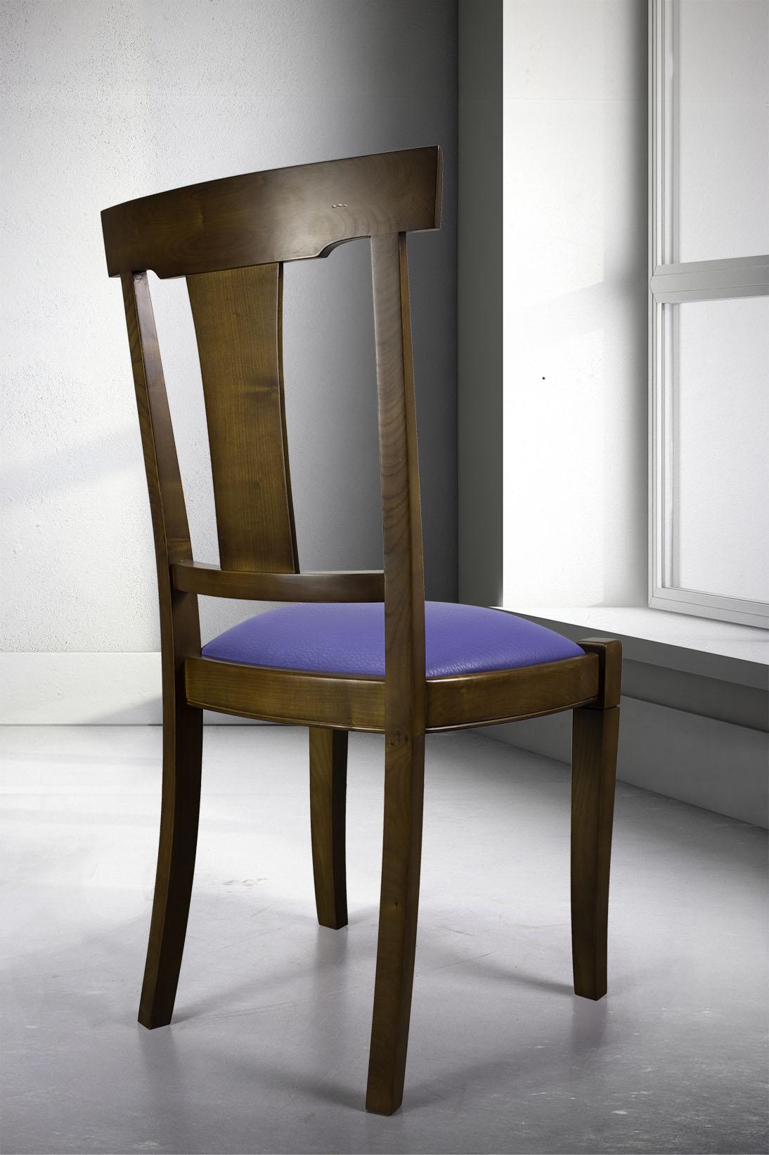 chaise syriel en merisier massif de style louis philippe assise encastr e meuble en merisier. Black Bedroom Furniture Sets. Home Design Ideas