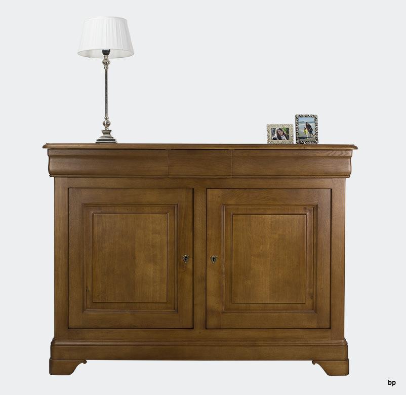 buffet 2 portes ethan en ch ne massif de style louis philippe meuble en ch ne massif. Black Bedroom Furniture Sets. Home Design Ideas
