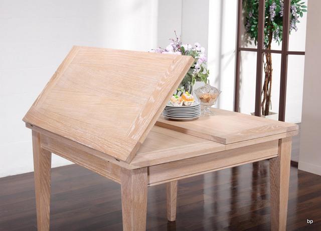 Table de repas 100x100 en ch ne massif de style contemporain plateau ouvert 200x100 meuble en - Plateau de table en chene massif ...