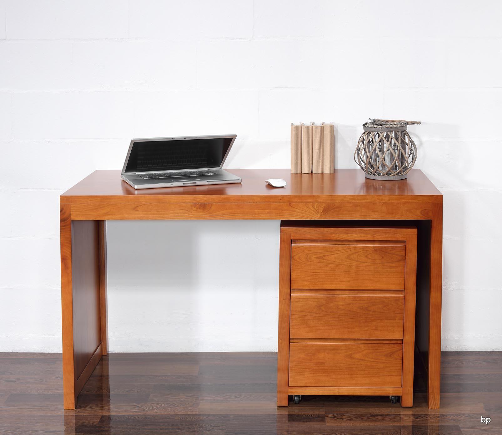 bureau contemporain en merisier accompagn de son caisson. Black Bedroom Furniture Sets. Home Design Ideas