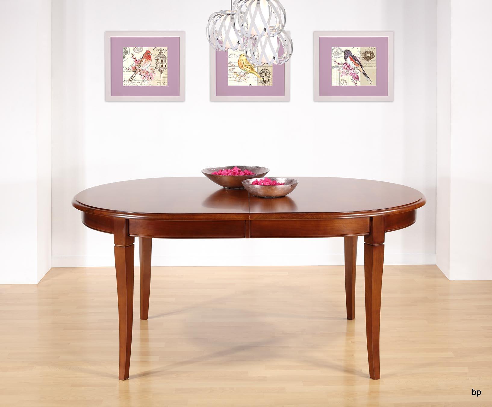 Table Ovale De Salle A Manger En Merisier Massif De Style Louis