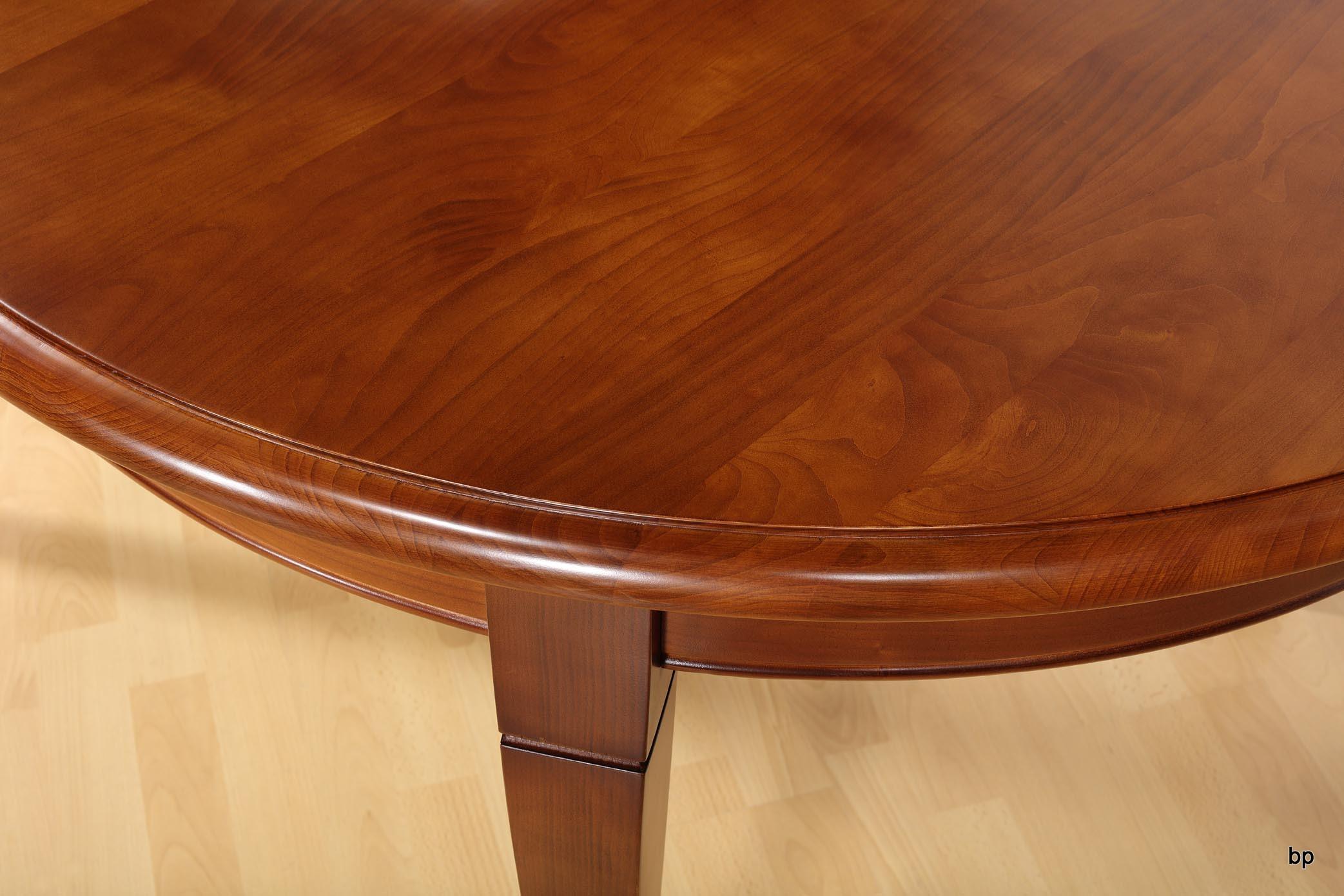 Table ovale de salle manger en merisier massif de style - Salle a manger louis philippe merisier ...