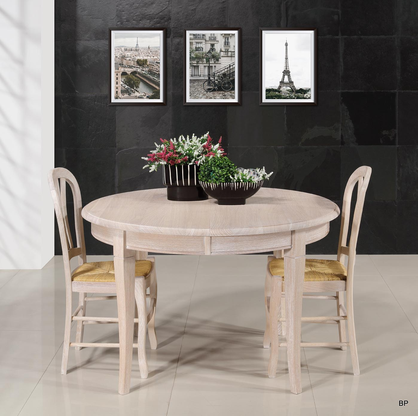 table ronde en ch ne massif de style louis philippe diam tre 120 5 allonges finition ch ne. Black Bedroom Furniture Sets. Home Design Ideas