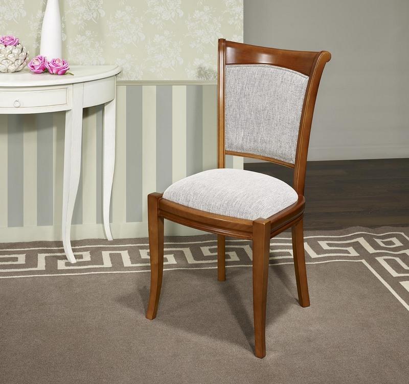 chaise ine en merisier massif de style louis philippe meuble en merisier massif. Black Bedroom Furniture Sets. Home Design Ideas