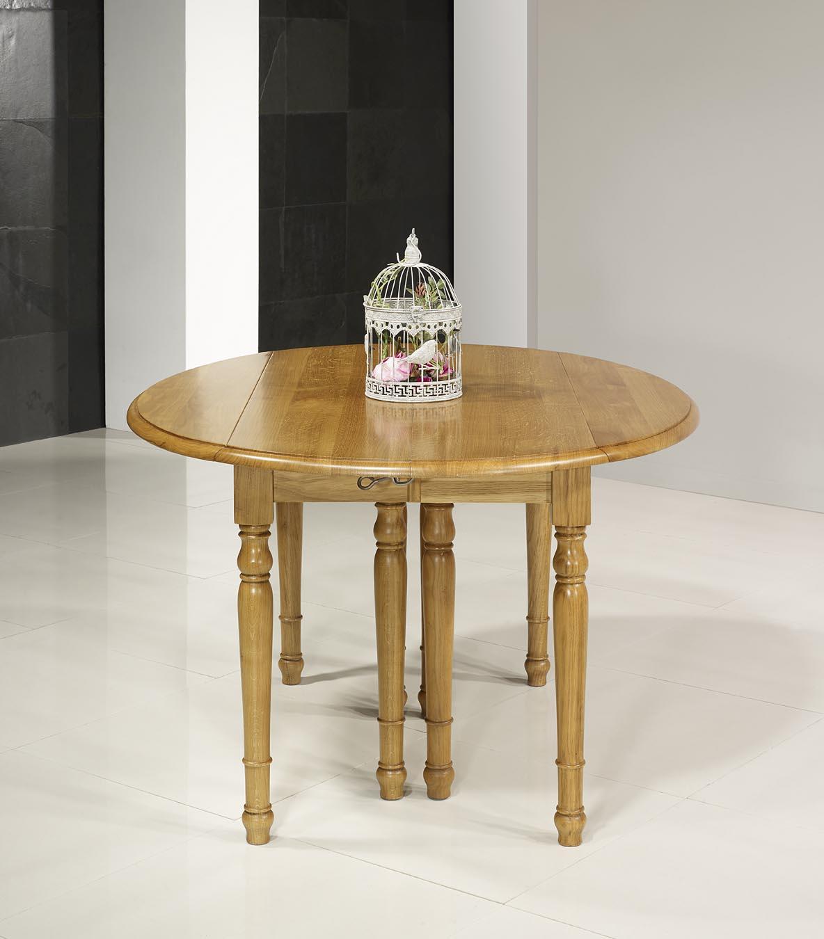 Table ovale volets 135 110 en ch ne massif de style for Table ovale chene massif