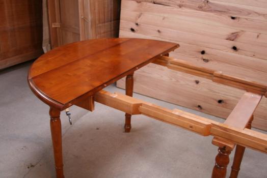 Table ronde volets diametre 110 de style louis philippe - Table ronde style louis philippe ...