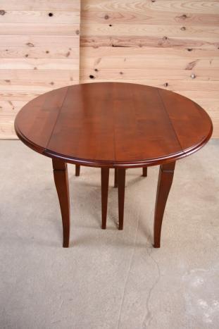 table ronde volets diametre 110 en merisier massif de. Black Bedroom Furniture Sets. Home Design Ideas