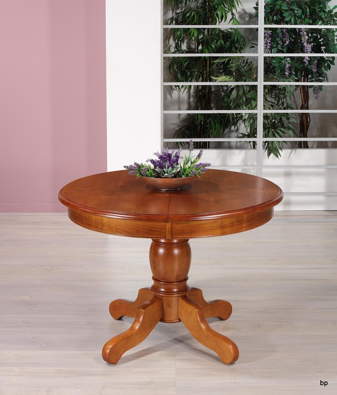 table ronde pieds central victoire de style louis philippe en merisier massif diam tre 110 bonne. Black Bedroom Furniture Sets. Home Design Ideas